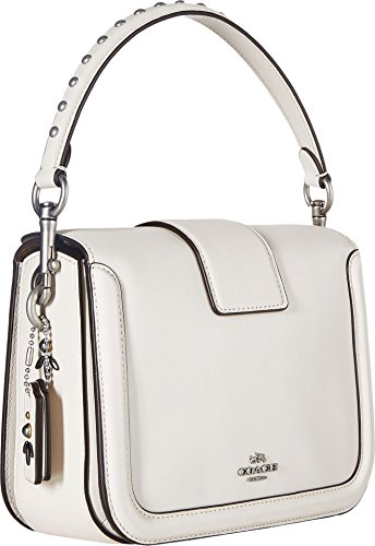 Crossbody Page Womens Lh with COACH Rivets Prairie Chalk AqgpwMZ