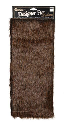 DARICE 2500-50 Dark Brown Craft Fur, 12 x 15 inches]()