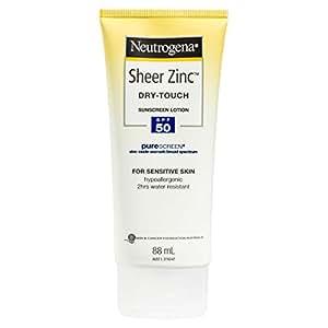 Neutrogena Sheer Zinc Body Sunscreen Lotion SPF50 88mL