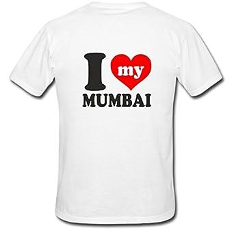 9daec419 I Love Mumbai Printed Customized Tshirt: Amazon.in: Clothing ...