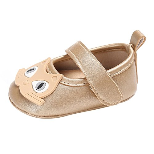 BOBORA Bebe Princesa Zapatos De Nino Lindo Gatito oro