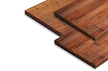 Terrassendielen Bambus Massivplatte, Französisch/ glatt ...