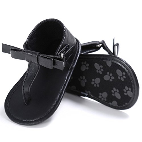 Bebé Prewalker Zapatos Auxma Sandalias del verano del arco de las muchachas del bebé Suela suave antideslizante cuna zapatos Para 3-18 Mes Negro
