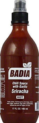 BADIA SAUCE CHILI SRIRACHA, 17 OZ pack of 6 (Badia Sauce)