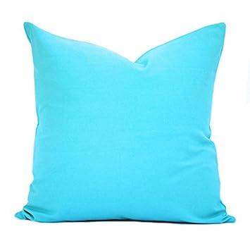 Amazon.com: Una funda de almohada turquesa, almohada ...