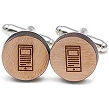 Newsreader Cufflinks, Wood Cufflinks Hand Made In The Usa