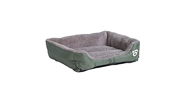 Amazon.com : quynhchi store S-3XL 9 Colors Paw Pet Sofa Dog Beds Waterproof Bottom Soft Fleece Warm Cat Bed House Petshop Dropshipping cama perro : Pet ...