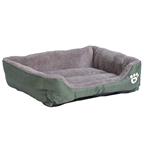 Houses, Kennels & Pens - 9 Colors Paw Pet Sofa Dog Beds Waterproof Bottom Soft Fleece Warm Cat Bed House Petshop Dropshipping cama perro - by Tini - 1 PCs ()