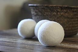 Smart Sheep Reusable Wool Dryer Balls, 3-Pack