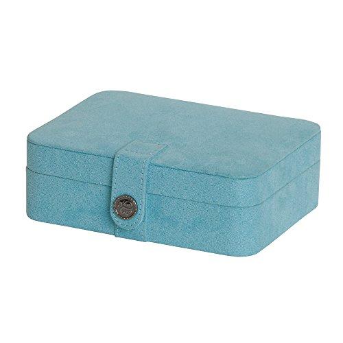 (Mele & Co. Giana Plush Fabric Jewelry Box with Lift Out Tray (Aqua))