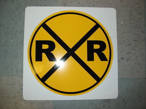 RAILROAD CROSSING RR Metal SIGN 4 Man Cave Prop Ice House Bar Hwy Highway Train station Signal ()