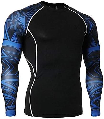フィットネス服トップ サイクリングスキーハイキング実行するためのベースレイヤートップクイックドライ軽量スポーツコンプレッションティーロングスリーブシャツ 筋トレ ストレッチ スポーツウェア ボディビル (Color : Blue, Size : M)