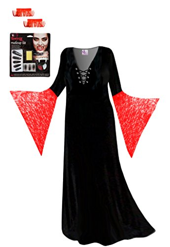 Red Vampiress Plus Size Supersize Halloween Costume Deluxe
