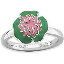 Sterling Silver Stackable Expressions Water Lily Ring