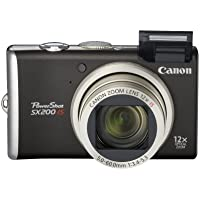 Canon PowerShot SX200IS 12 MP Digital Camera with 12x Wide Angle Optical Image Stabilized Zoom and 3.0-inch LCD (Black) At A Glance Review Image