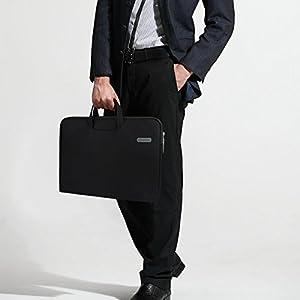 Arvok 13-13.3 Inch Canvas Laptop Sleeve With Handle & Zipper Pocket Water-resistant Notebook Computer Case/Ultrabook Briefcase Carrying Bag