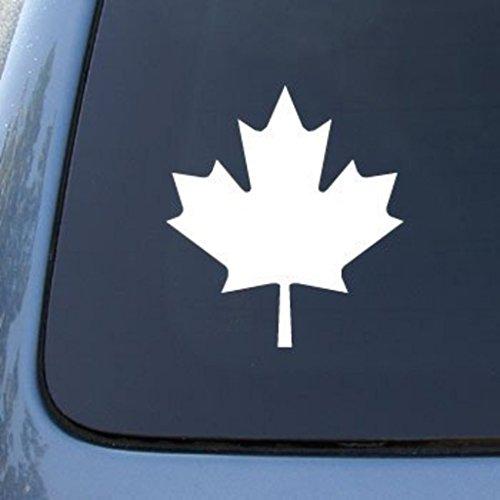 CMI547 MAPLE LEAF CANADA - Die Cut Vinyl Car Decal Sticker for Car Window Bumper Truck Laptop Ipad Notebook Computer Skateboard Motorcycle | Premium White Vinyl Decal | 5.75