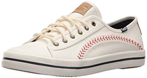 Keds Women's Kickstart Pennant Sneaker, Cream, 8 M US