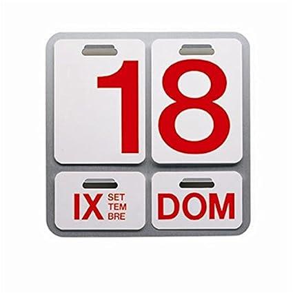 Calendario Milano.Danese Milano Formosa Calendario Perpetuo Alluminio