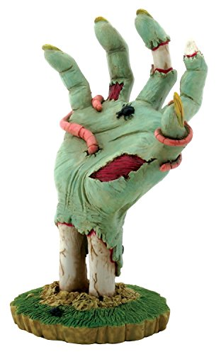 YTC 6.25 Inch Cold Cast Resin Decaying Zombie Hand with Worms Figurine
