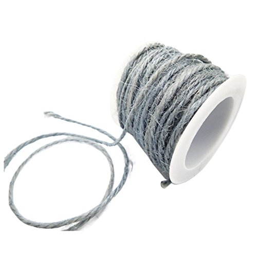 TOOGOO(R) DIY 2mm Wrap Gift Link Paper Tag Jute Burlap Ribbon Twine Rope Cord String Gray