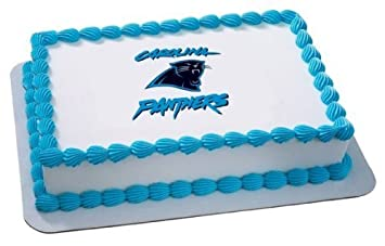 1 X NFL Carolina Panthers ~ Edible Cake Image Topper