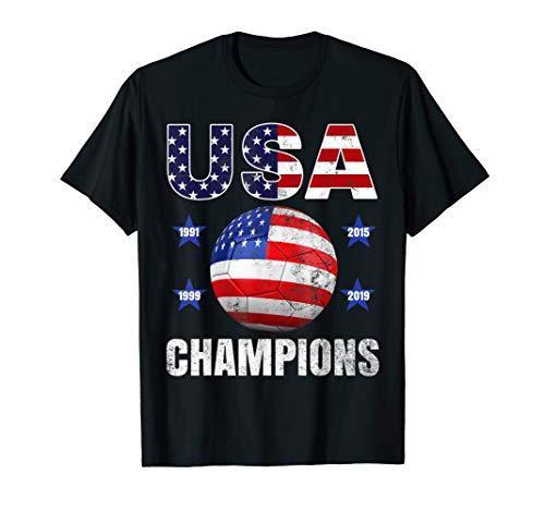 USA Women Soccer World Champions 2019 Tee 4 Stars Gift T-Shirt