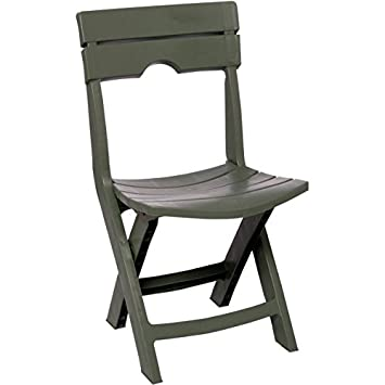 Adams Manufacturing 8575-01-3700 Quik-Fold Tag-Along Side Resin Table, Chair, Sage