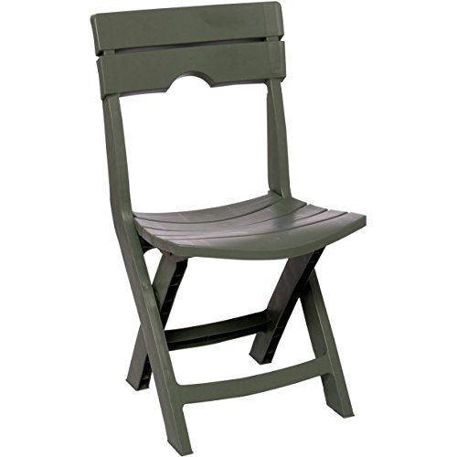 (Adams Manufacturing 8575-01-3700 Quik-Fold Tag-Along Side Resin Table, Chair, Sage)