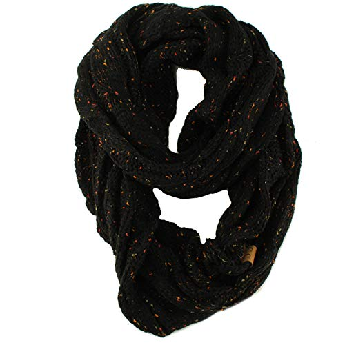 9a3892a0 CC Confetti Soft Chunky Pullover Knit Long Loop Infinity Hood Cowl Scarf