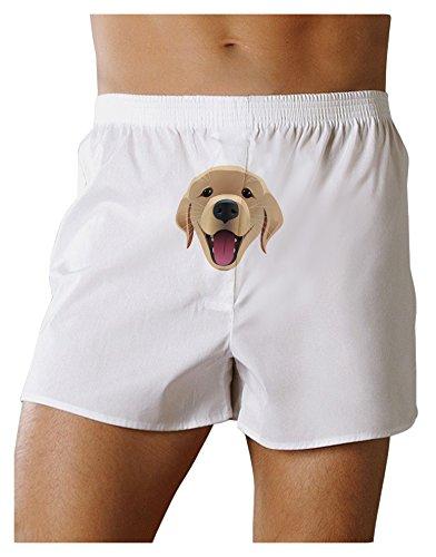 TooLoud Cute Golden Retriever Puppy Face Front Print Boxers Shorts - White - (Face Boxer Shorts)