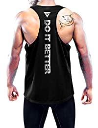 Boyzn Men's Workout Tank Top Y-Back Athletic Muscle Mesh Sleeveless Dry Fit Gym Shirt