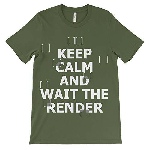 Calm Donna Keep The Architetto Render Tee Olive T Shirt Shirt Wait for Tee Architetto wxafqUXS