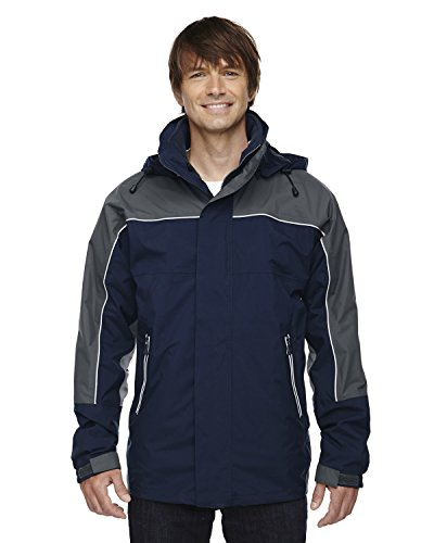 North End Men's Techno 3-In-1 Mid-Length Jacket, MIDN NAVY 711, - End North Performance Techno