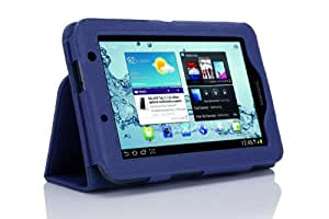 SupCase Samsung Galaxy Tab 2 7.0 GT-P3113 Slim Fit Leather Case with Stand - Sapphire Blue