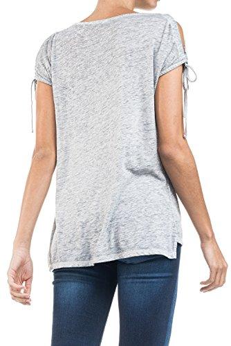 SALSA Camiseta floja con lentejuelas Gris