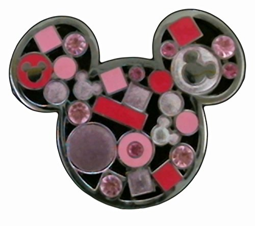 Disney Mickey Mouse Icon - Jeweled Pink Pin