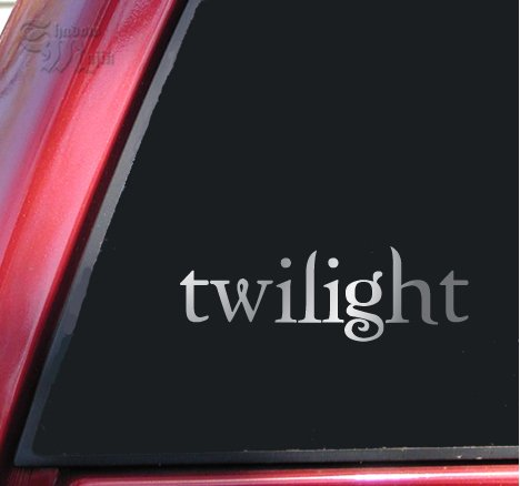 Twilight Logo Vinyl Decal Sticker - Shiny Chrome -