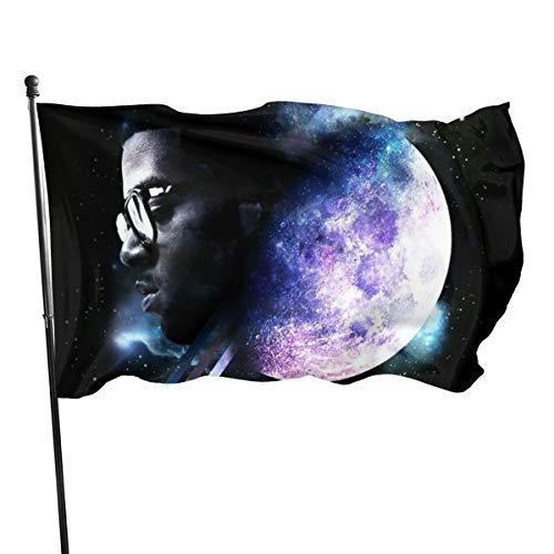 LiaoyumeiAPP Kid Cudi Man On The Moon Garden Flag Set for Outdoors 3x5 Ft (Kid Cudi Man On The Moon Iii)