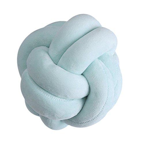 Adarl Rest Knot Pillow With Pillow Core Cushion Soft Plush Toy Throw Pillow Headrest Sleeping Helper Green-18cm/7.1inch