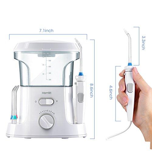 homitt water flosser 9 multifunctional tips countertop dental oral irrigator with 10 pressure. Black Bedroom Furniture Sets. Home Design Ideas