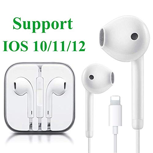 Earbuds/Earphones, Microphone Earphones Stereo Headphones Noise Isolating Headset Compatible with iPhone 7/7 Plus/iPhone 8/8 Plus/iPhone X 10/XS/iPhone Xs Max/XR/iPhone 6S /6S Plus/6 Plus
