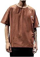 Hombres Camiseta O-Cuello Patchwork Impresión Moda Verano Casual Manga Corta Tops Blusa Type A