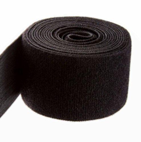 Ninepeak Nylon One-Wrap Self Gripping Strap, Hook & Loop Fastening Tape, 5' Length, Black (2