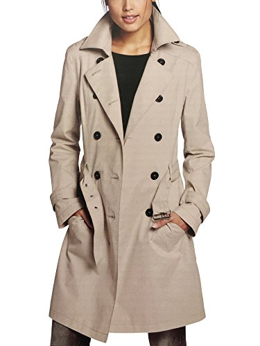 S Curve Women's Double Breasted Trench Coat Beige EU 36