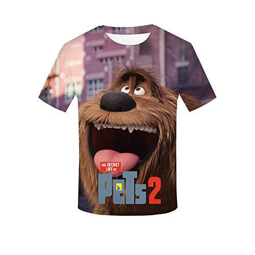- Oxking Women and Men Unisex Family Comedy Movie Summer 3D Graphic Print T-Shirt The Secret Life of Pets 2 HZIJUE07 Kid 160(14-16)