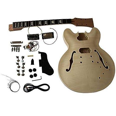 gd230 CAOBA Semi Hollow Cuerpo guitarra eléctrica Hazlo tú mismo Kit Para Estudiante & Luthier proyectos