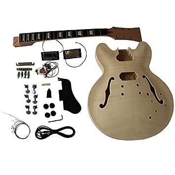 gd230 CAOBA Semi Hollow Cuerpo guitarra eléctrica Hazlo tú mismo Kit ...