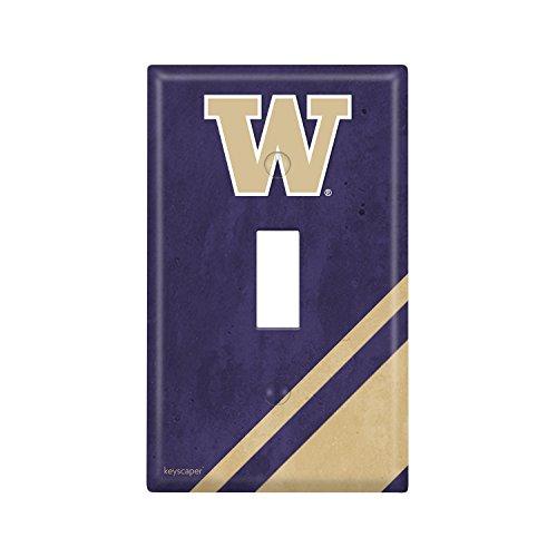 Washington Huskies Single Toggle Light Switch Cover NCAA (Covers Wall Washington)