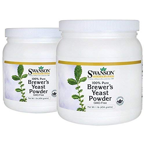 Dry Brewers Yeast (Swanson 100% Pure Brewer's Yeast Powder Gmo-Free 2 lb (908 g) Pwdr)